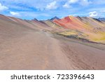 vinicunca  also known as... | Shutterstock . vector #723396643