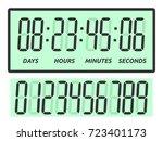 green count down digital... | Shutterstock .eps vector #723401173