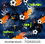 football seamless pattern on... | Shutterstock .eps vector #723420133