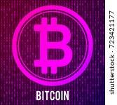 cripto currency bitcoin. global ...   Shutterstock .eps vector #723421177