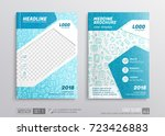 medical brochure corporate... | Shutterstock .eps vector #723426883