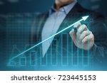financial graph. stock market... | Shutterstock . vector #723445153