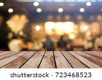 old vintage grungy brown wood...   Shutterstock . vector #723468523