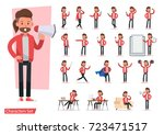 set of men character vector... | Shutterstock .eps vector #723471517