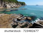 rocks  clear sea. tachingoza... | Shutterstock . vector #723482677