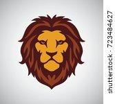 lion head mascot logo template   Shutterstock .eps vector #723484627