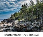 cliffs on great head trail ... | Shutterstock . vector #723485863