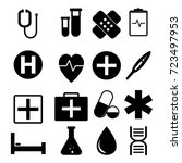 vector of medical icon set | Shutterstock .eps vector #723497953