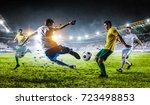 soccer best moments. mixed media | Shutterstock . vector #723498853