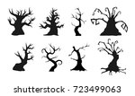 spooky old trees with creepy... | Shutterstock .eps vector #723499063