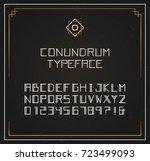 conundrum exclusive typeface.... | Shutterstock .eps vector #723499093