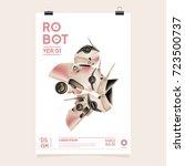 vector realistic robot... | Shutterstock .eps vector #723500737