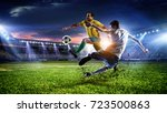 soccer best moments. mixed media | Shutterstock . vector #723500863