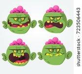 zombie head scary spooky... | Shutterstock .eps vector #723506443