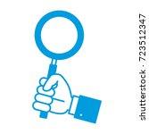 magnifying glass symbol   Shutterstock .eps vector #723512347