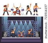 rock music rockers band... | Shutterstock .eps vector #723516157