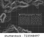 background of the topographic... | Shutterstock .eps vector #723548497