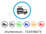 free shipment rounded icon.... | Shutterstock .eps vector #723558673