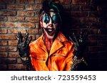 halloween. portrait of a... | Shutterstock . vector #723559453