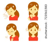 allergic reactions  vector file | Shutterstock .eps vector #723561583