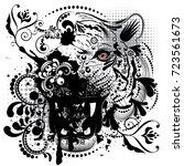 stylized ornamental portrait of ... | Shutterstock .eps vector #723561673