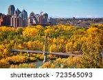downtown. calgary. alberta.... | Shutterstock . vector #723565093