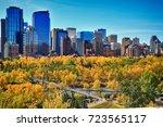 downtown. calgary. alberta.... | Shutterstock . vector #723565117