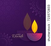 diwali greeting card design... | Shutterstock .eps vector #723572833