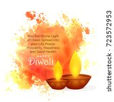 awesome diwali festival wishes... | Shutterstock .eps vector #723572953