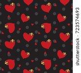 heart seamless pattern  heart...   Shutterstock .eps vector #723574693