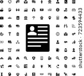 cv icon. set of filled business ...   Shutterstock .eps vector #723594433