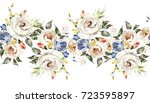 isolated seamless border with... | Shutterstock . vector #723595897
