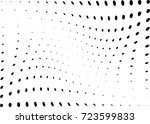 abstract halftone wave dotted... | Shutterstock .eps vector #723599833