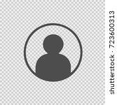 person silhouette vector icon... | Shutterstock .eps vector #723600313