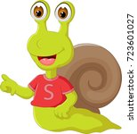 cute snail cartoon pointing... | Shutterstock .eps vector #723601027