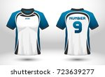blue and white layout football... | Shutterstock .eps vector #723639277