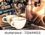 coffee espresso shot from... | Shutterstock . vector #723644023