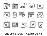 advertisement vector icons set. | Shutterstock .eps vector #723660373