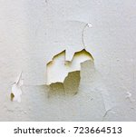 the paint is peeling off the...   Shutterstock . vector #723664513