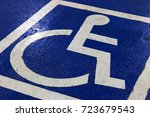 parking symbol for the disabled ... | Shutterstock . vector #723679543