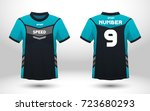 blue and black layout football... | Shutterstock .eps vector #723680293
