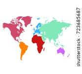 color world map | Shutterstock .eps vector #723685687