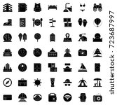 travel icons set | Shutterstock .eps vector #723687997