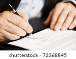 businessman sitting at office...   Shutterstock . vector #72368845