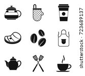 roast icons set. simple set of... | Shutterstock .eps vector #723689137