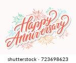 happy anniversary. greeting... | Shutterstock .eps vector #723698623