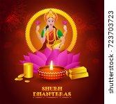 indian mythological goddess of... | Shutterstock .eps vector #723703723