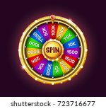 bonus wheel of luck. vector... | Shutterstock .eps vector #723716677
