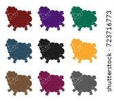 toy sheep icon in black style... | Shutterstock .eps vector #723716773