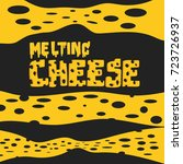 long cheese expand and melting... | Shutterstock .eps vector #723726937